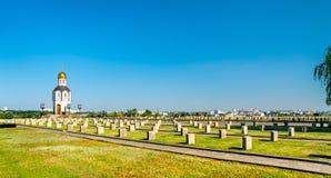 Военное мемориальное кладбище на Mamayev Kurgan в Волгограде, России стоковые изображения