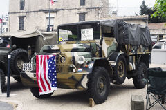 Военное транспортное средство последней подвергли действию мировой войны, который Стоковое фото RF
