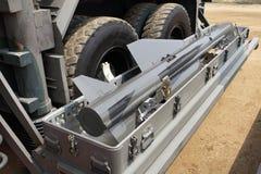 Военное транспортное средство с ракетой Стоковое фото RF