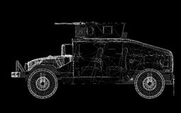 Военное транспортное средство Стоковое Изображение RF