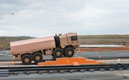 Военное транспортное средство MZKT-600201 перевозки Стоковое фото RF