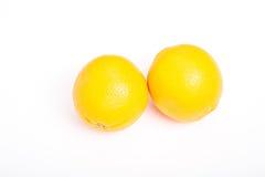 2 военноморских апельсина на белизне Стоковые Фото