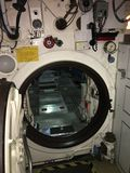 Военноморской вход иллюминатора подводной лодки Стоковые Фотографии RF