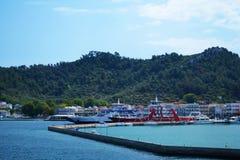 Военноморской порт - Thassos стоковое изображение