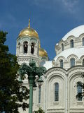 Военноморской собор St Nicholas, Kronstadt России Стоковые Изображения RF