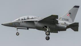 Военно-воздушные силы заполированности Aermacchi MB346 Стоковое Изображение