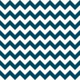 Военно-морского флота геометрического дизайна стрелок вектора картины зигзага Шеврона белизна безшовного красочного морская голуб Стоковые Изображения
