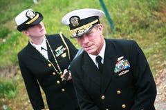 военно-морской флот rick frederick III капитана f burgess Стоковые Изображения RF