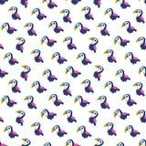 Военно-морской флот милых безшовных toucans предпосылки вектора розовый Стоковая Фотография RF