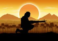 Военные силы в ситуации джунглей бесплатная иллюстрация