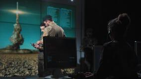 Военные силы контролируя старт ракеты Стоковая Фотография