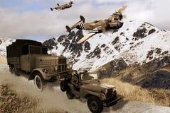 военные транспортные средства Стоковое фото RF