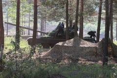 Военные учения в России Стоковое фото RF