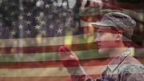 Военный в парке видеоматериал