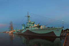 военный корабль Стоковое Изображение