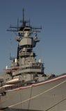 Военный корабль USS Айовы стоковое изображение rf