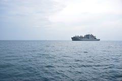 Военный корабль, линкор Стоковые Фотографии RF