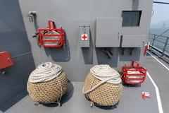 Военный корабль - инструменты, сила самообороны Японии морская Стоковое Изображение