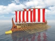 Военный корабль древнегреческия Стоковое фото RF