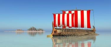Военный корабль древнегреческия Стоковые Фото