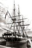 Военный корабль фрегата USS Constellation исторический старый стоковые фото