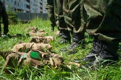 Военный лагерь Образование солдат стоковое изображение rf