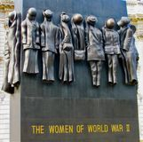 Военный мемориал женщин Стоковое Изображение