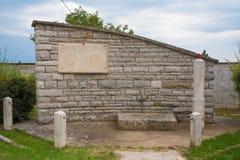 Военный мемориал около Zrenj стоковая фотография