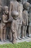 Военный мемориал в деревне Lidice Стоковые Изображения RF