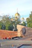 Военный мемориал на квадрате славы в центре города самары стоковое изображение rf