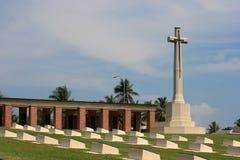Военный мемориал на Pulau Labuan с малайзийца Борнео Стоковая Фотография