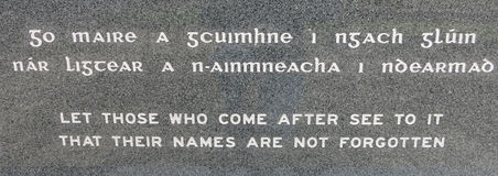 Военный мемориал Ballina Ирландия Стоковое Изображение RF