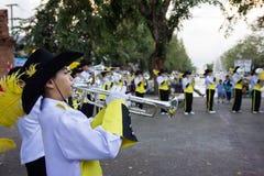 Военный оркестр в тайской масленице Стоковая Фотография