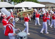 Военный оркестр средней школы Стоковая Фотография