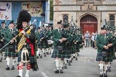 Военный оркестр трубы Huntly Стоковое Изображение RF