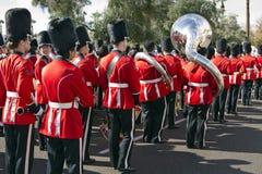 Военный оркестр 2012 коллежа парада шара фиесты Стоковая Фотография RF