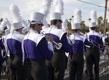 Военный оркестр 2012 коллежа парада шара фиесты Стоковое Изображение RF