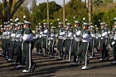 Военный оркестр 2012 коллежа парада шара фиесты Стоковые Изображения RF