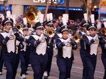 Военный оркестр UC Davis на китайском параде Сан-Франциско 2018 Стоковые Фотографии RF