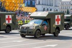 Военный парад в Киеве, Украине стоковые фотографии rf