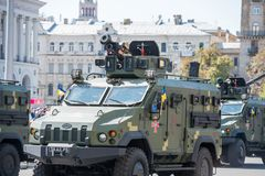 Военный парад в Киеве, Украине стоковые изображения rf