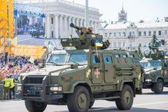 Военный парад в Киеве, Украине стоковое фото rf