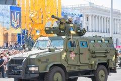 Военный парад в Киеве, Украине стоковое изображение