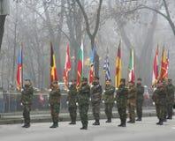 военный парад пехоты Стоковые Изображения RF
