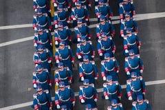 Военный парад празднуя национальный праздник Румынии стоковые фото