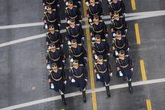 Военный парад празднуя национальный праздник Румынии стоковое изображение