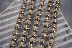 Военный парад празднуя национальный праздник Румынии стоковые изображения