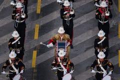 Военный парад празднуя национальный праздник Румынии стоковое фото