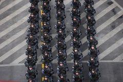 Военный парад празднуя национальный праздник Румынии стоковое фото rf