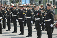 военный парад Стоковые Фотографии RF